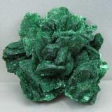 Malachite after Azurite<br />Morenci Mine, Morenci, Copper Mountain District, Shannon Mountains, Greenlee County, Arizona, USA<br />6.5cm x 6.0cm<br /> (Author: rweaver)