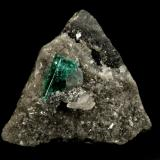 Beryl (variety emerald), Calcite, Dolomite<br />Muzo mining district, Western Emerald Belt, Boyacá Department, Colombia<br />triangle side=35mm, xl=11mm<br /> (Author: Fiebre Verde)