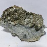 Pirita<br />Mines Can Palomeres, Malgrat de Mar, Comarca Maresme, Barcelona, Catalunya, España<br />5,5x3,5cm<br /> (Autor: heat00)