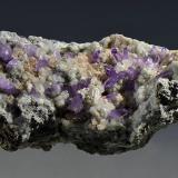 Quartz (var. amethyst), Calcite<br />Capurru Quarry, Osilo, Sassari Province, Sardinia/Sardegna, Italy<br />12.5 x 5.3 x 4.5 cm<br /> (Author: Martin Rich)
