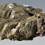 Pyrrhotite<br />Stan Terg Mine, Trep&#269;a Complex, Trep&#269;a Valley, Kosovska Mitrovica, Kosovska Mitrovica District, Kosovo<br />9 x 4.9 x 4.5 cm.<br /> (Author: Martin Rich)