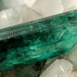 Beryl (variety emerald), Calcite<br />Muzo mining district, Western Emerald Belt, Boyacá Department, Colombia<br />130x85x100mm, xls up to 27mm<br /> (Author: Fiebre Verde)