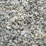 Granito o granodiorita Benasque, Huesca, Aragón, España. CdV: 5 cm Se aprecia bien la biotita y quizás algún otro mineral oscuro. Lo amarillo / naranja son líquenes, hace años que lo tengo en el jardín. (Autor: Josele)