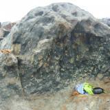 Andesita con Granodiorita y Tonalita, estado Natural Marmoreal, Lima Peru 4x2mts Cantera, Marmoreal, Afloracion de Roca, Denominada CAPRICHO NOCTURNO (Autor: Francisco Romana)