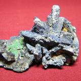 Azurite<br />Tsumeb Mine, Tsumeb, Otjikoto Region, Namibia<br />80x60mm<br /> (Author: Heimo Hellwig)
