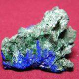 Azurite/Malachite<br />Tsumeb Mine, Tsumeb, Otjikoto Region, Namibia<br />40x35mm<br /> (Author: Heimo Hellwig)