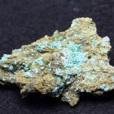 Auricalcita<br />Mines de Can Montsant, Can Montsant (Massís del Montnegre), Hortsavinyà, Tordera, Maresme, Barcelona, Catalunya, España<br />4,5 x 3 x 1,5 cm<br /> (Autor: karbu8)
