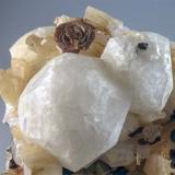 Rhodochrosite, Analcime & Natrolite<br />Mont Saint-Hilaire, La Vallée-du-Richelieu RCM, Montérégie, Québec, Canada<br />H:8.8cm x W:7cm x D:5cm<br /> (Author: Adrian Pripoae)