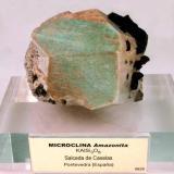 Microclina (variedad amazonita)<br />Salceda de Caselas, Baixo Miño, Pontevedra, Galicia, España<br />8,5 x 7 x 6 cm.<br /> (Autor: Foro FMF)