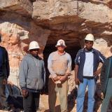 Photo 4.  Mine inspection by traditional Aboriginal owners in June 2015. Photo: Anne Pye, CLC. (Author: crocoite)