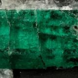 Beryl (variety emerald), Calcite, Pyrite<br />Muzo mining district, Western Emerald Belt, Boyacá Department, Colombia<br />64x55x65mm, xl=27mm<br /> (Author: Fiebre Verde)