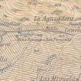 Situación de la mina según Mapa Topográfico Nacional del IGN. Hoja 804-Edición 1940. (Autor: Inma)