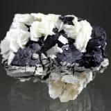 Barite, Fluorite, Calcite<br />Denton Mine, Goose Creek Mine group, Harris Creek Sub-District, Hardin County, Illinois, USA<br />10 x 8 x 5 cm<br /> (Author: Don Lum)