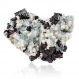 Fluorite with Fluorapatite and BertranditeAkchatau, Provincia Karagandy, Kazajstán14,5 x11,5x7,0cm (Author: MIM Museum)
