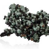 Andrewsite with Rockbridgeite and HentscheliteWheal Phoenix, Mina Phoenix United, Minions, Linkinhorne, Distrito Liskeard, Cornwall, Inglaterra, Reino Unido6.5 x 4.5 x 4.5 cm (Author: MIM Museum)