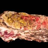 Calcita (variedad cobaltífera), Aragonito<br />Mina Solita, Peramea, Baix Pallars, Comarca Pallars Sobirà, Lleida/Lérida, Catalunya, España<br />21 x 8,7 x 8 cm<br /> (Autor: Carles)