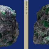 Berilo (variedad esmeralda)<br />Distrito minero Carnaiba, Complejo ultramáfico Campo Formoso, Pindobaçu, Centro-Norte Baiano, Bahia, Región Nordeste, Brasil<br />8x5x5 cm      cristal mayo de 2.2 cm de ancho<br /> (Autor: Ricardo Fimia)