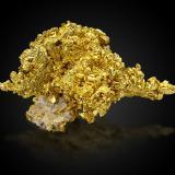 Gold on QuartzMina Mockingbird, Zona Colorado, Distrito Whitlock, Mother Lode Belt, Condado Mariposa, California, USA13,0 x8,0x9,0cm (Author: MIM Museum)