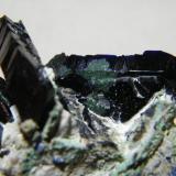 Azurite<br />Tsumeb Mine, Tsumeb, Otjikoto Region, Namibia<br />60x40mm<br /> (Author: Heimo Hellwig)