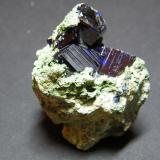 Azurite<br />Tsumeb Mine, Tsumeb, Otjikoto Region, Namibia<br />50x45mm<br /> (Author: Heimo Hellwig)
