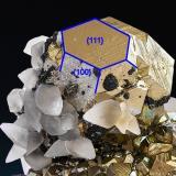 Pyrite, Calcite, Tetrahedrite, Sphalerite<br />Huanzala Mine, Huallanca District, Dos de Mayo Province, Huánuco Department, Peru<br />81 mm x 75 mm x 71 mm<br /> (Author: Carles Millan)