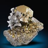 Pyrite, Calcite, Tetrahedrite, Sphalerite<br />Huanzala Mine, Huallanca District, Dos de Mayo Province, Huánuco Department, Peru<br />81 mm x 75 mm x 71 mm<br /> (Author: Carles Millan)