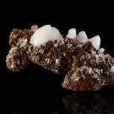 Hemimorphite on Goethite and limoniteMina Ojuela, Mapimí, Municipio Mapimí, Durango, México19,0x10,0x7,5cm (Author: MIM Museum)