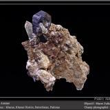 Anatase on Quartz<br />Kharan, Kharan District, Balochistan (Baluchistan), Pakistan<br />fov 8 cm<br /> (Author: ploum)