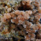 Clinoptilolita-Ca<br />Barranco de Tocodoman, La Aldea de San Nicolás, Gran Canaria, Provincia de Las Palmas, Canarias, España<br />Encuadre de la fotografía 8 mm<br /> (Autor: Rafael Galiana)