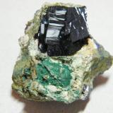 Azurite<br />Tsumeb Mine, Tsumeb, Otjikoto Region, Namibia<br />45x45x30mm<br /> (Author: Heimo Hellwig)
