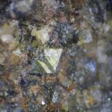 Arsenopirita<br />Olesa de Montserrat, Comarca Baix Llobregat, Barcelona, Catalunya, España<br />1mm aprox (cristal)<br /> (Autor: Adolf Cortel)